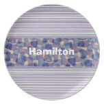 Custom Blue and Lavender Tie Dye Plate