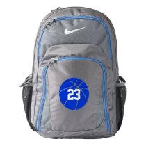 Custom Blue Basketball Backpack