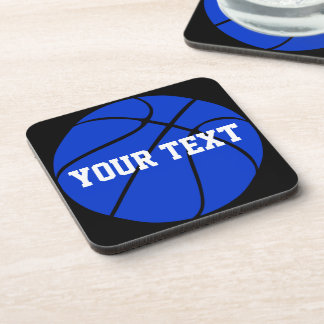 Custom Blue Basketball Ball Coasters
