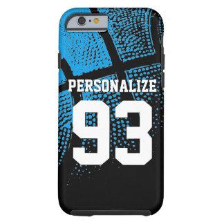 Custom blue basketball jersey number iPhone 6 case