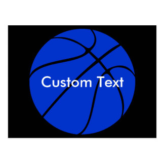 Custom Blue Basketball Postcard