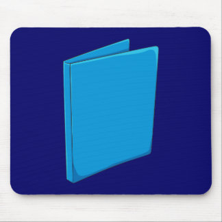 Custom Blue Binder Folder Greeting Playing Cards Mouse Pads