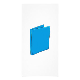 Custom Blue Binder Folder Greeting Playing Cards Personalized Photo Card