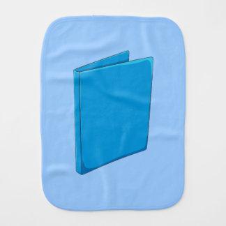 Custom Blue Binder Folder Invitation Postage Label Burp Cloth