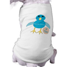 Custom Blue Birthday Boy Chick Dog T Shirt