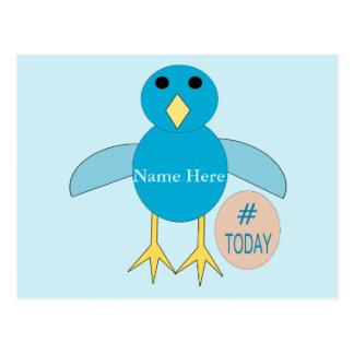 Custom Blue Birthday Boy Chick Postcard