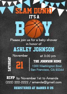 basketball invitations zazzle