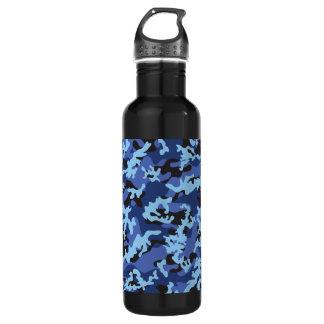 Custom Blue Camo Aluminum Stainless Steel Water Bottle