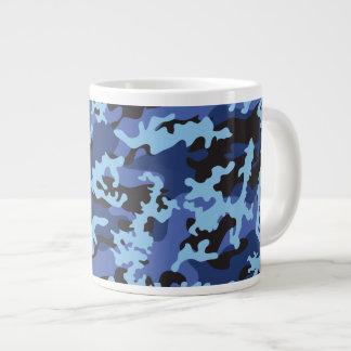 Custom Blue Camo Glass Jumbo Mug