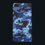 "Custom Blue Camo iPod Touch Case<br><div class=""desc"">Custom Blue Camo iPod Touch Case.  This Blue Camo pattern was inspired by the Woodland Camouflage our military soldiers used to wear.</div>"