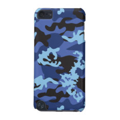 Custom Blue Camo Ipod Touch Case at Zazzle
