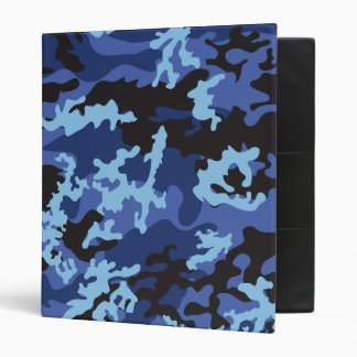 Custom Blue Camo School Binder