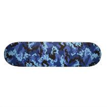 Custom Blue Camo Skateboard