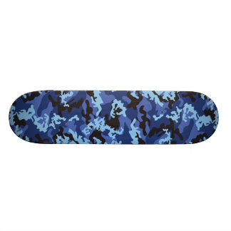 Custom Blue Camo Skateboard
