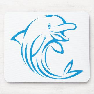 Custom Blue Dolphin Logo Mouse Pad