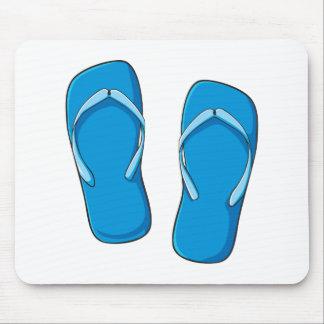 Custom Blue Flip Flops Sandals Greeting Cards Pins Mousepads