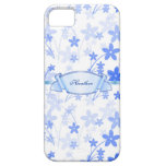 Custom Blue Floral iPhone 5 Barely There Case iPhone 5 Case