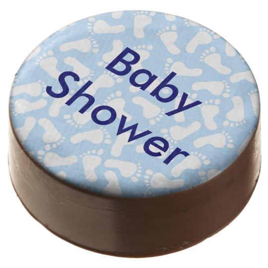Custom Blue Foot Print Baby Shower Oreo Cookies Zazzle