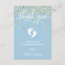 Custom Blue Gold THANK YOU Baby Shower BOY | PHOTO