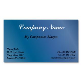 Logo magnets business cards templates zazzle custom blue gradient magnetic business card colourmoves