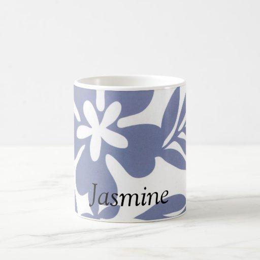 Custom Blue Hibiscus Tropical Flower  Mug