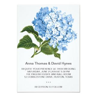 CUSTOM BLUE HYDRANGEA PERSONALIZED WEDDING CARD
