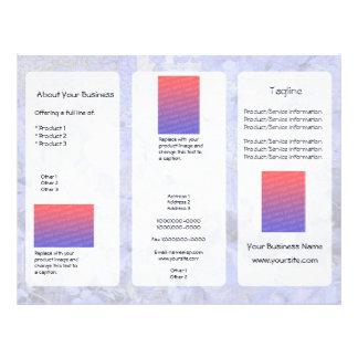 Custom Blue Leaves Light Three-Panel Brochure