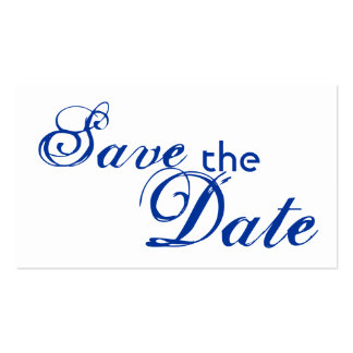 Custom blue letter save the date wedding cards Double-Sided standard business cards (Pack of 100)