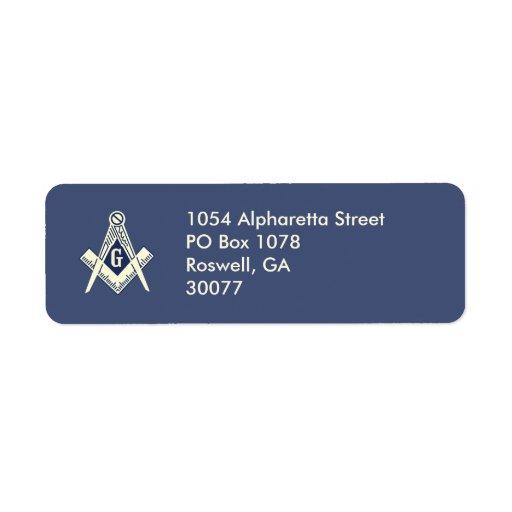 Custom Blue Lodge Mailing Labels