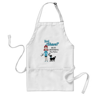 Custom Blue Need a Shave for Grooming Salon Adult Apron