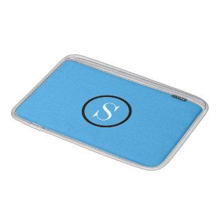 """Custom Blue Opal Monogram MacBook Air 11"""" Sleeve"""