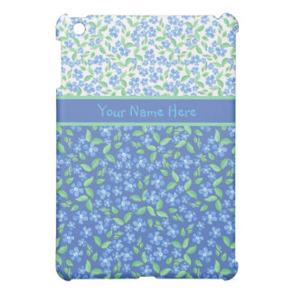 Custom Blue Periwinkles Ditsy Floral Patterns iPad Mini Cases