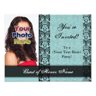 Custom Blue Pretty Party Invitation