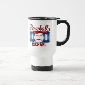 Custom Blue/Red Baseball Dad Travel Mug