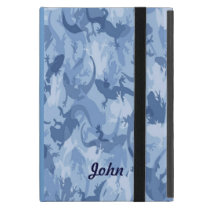 Custom Blue Reptile Camouflage iPad Mini Case