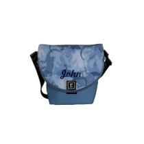 Custom Blue Reptile Camouflage Mini Messenge Bag