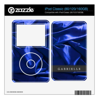 Custom Blue Satin Skins For iPod Classic