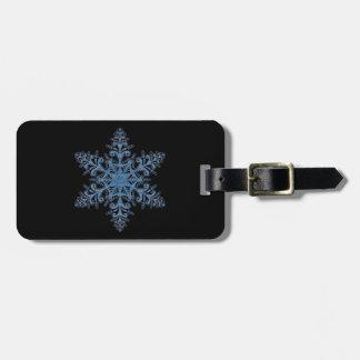 Custom Blue Snowflake Luggage Tag