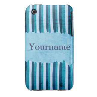 Custom Blue Strokes iPhone 3 Covers