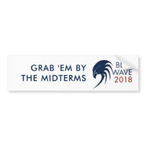 Custom Blue Wave 2018 Democrat Midterm Election Bumper Sticker