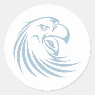 Custom Blue Wild Eagle Sports Logo Classic Round Sticker