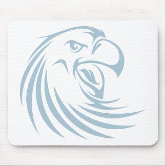 Custom Blue Wild Eagle Sports Logo Mouse Pad
