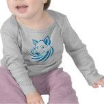 Custom Blue Wolf Logo Tee Shirts