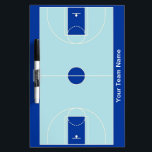 """Custom blues basketball dry erase board<br><div class=""""desc"""">Also available in these colors:</div>"""