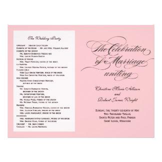 Custom_Blush Wedding Program Custom Flyer