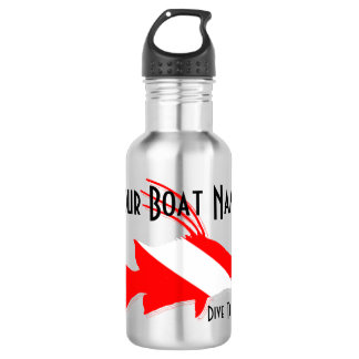 Custom Boat Name Dive Flag theme with Hogfish Water Bottle