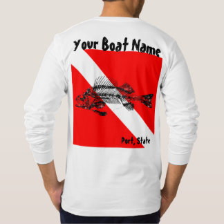 Boat name t shirts shirt designs zazzle for Custom boat t shirts