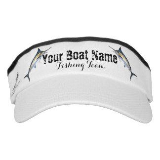 Custom Boat Name Fishing Team with Marlin Visor
