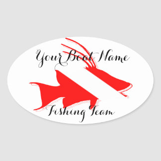 Custom Boat Name Hog Fish Snapper Sticker