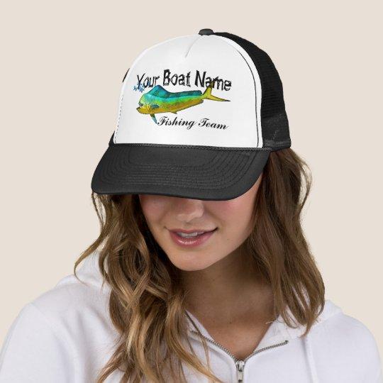 e389ed5b0c22d Custom Boat Name Mahi trucker hat